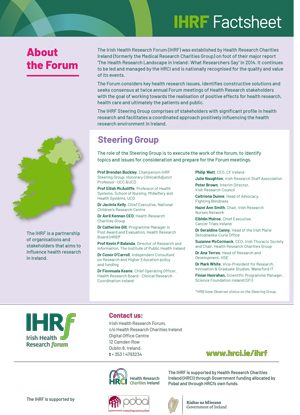 ​Click on the image to view the IHRF Factsheet