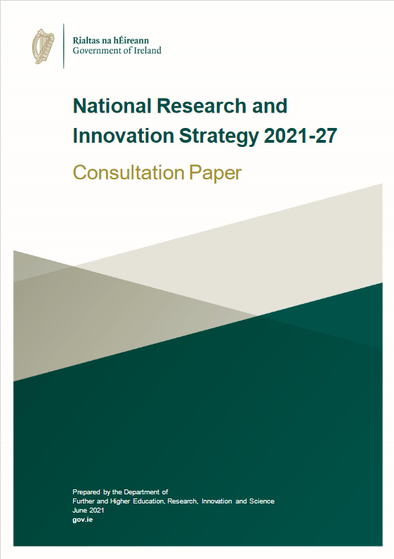 Front Cover of National Research and Innovation Strategy 2021-2027 Consultation Paper